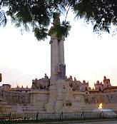 Plaza de España, monumento a Las Cortes